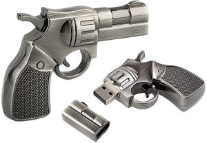 Special Police Revolver Gun Shaped USB Flash Drive Memory Disk pictures & photos