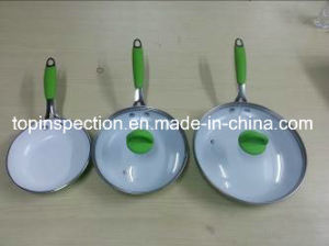 QC Inspection on Kitchenware - Pan pictures & photos