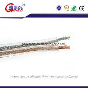 Transparent Tc Flexible Speaker Cable, 2 Core PVC Insulation Gold or Silver Transparent Flat Speaker Cable pictures & photos