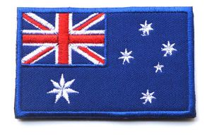 Custom Fabric Flag Embroidery Patch with Hook and Loop (YB-e-018) pictures & photos