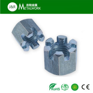 Carbon Steel Yellow Zinc Plated Castle Nut pictures & photos