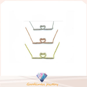 Woman Fashion Jewelry AAA CZ 925 Silver Necklace (N6642) pictures & photos
