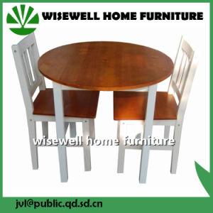 5-Piece Pine Wood Bi Color Dining Set Furniture (W-DF-0627) pictures & photos