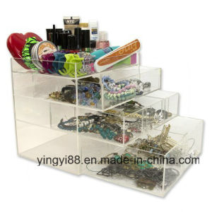 Wholesale Acrylic Cosmetic Makeup Organizer Countertop with Drawer pictures & photos