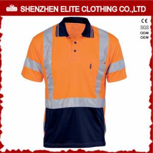 High Visibility Polyester Work T-Shirts with Pocket pictures & photos