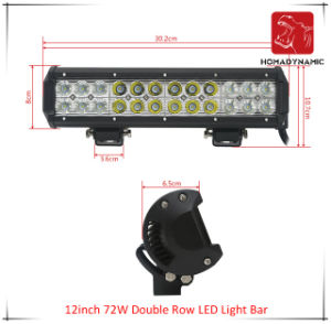 LED Car Light 12inch 72W Double Row LED Light Bar Waterproof for SUV Car LED off Road Light and LED Driving Light pictures & photos