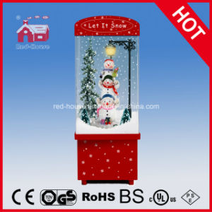 Snowing Christmas Decoration Cute Snowman Inside with LED and Music