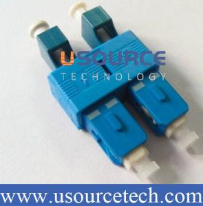 LC Female to Sc Male Sm 9/125 Duplex Optic Adapter