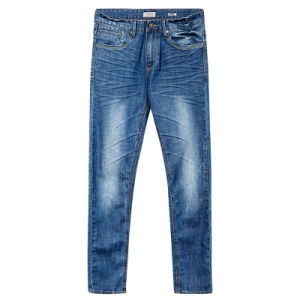 Hot Sale Popular blue Denim Cotton Jeans for Men pictures & photos