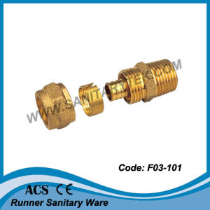 Brass Compression Fitting for Pex Pipe (F03-101) pictures & photos