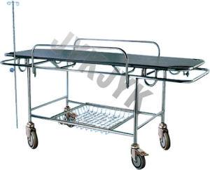 Plastic Bed Base Stretcher Cart with Four Castors pictures & photos