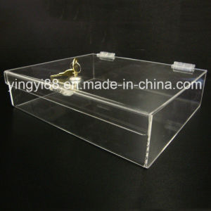 High Quality Acrylic Plastic Box with Lock and Key pictures & photos