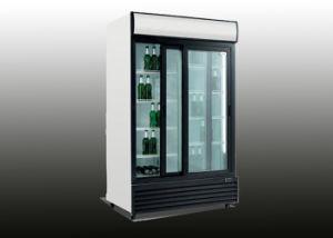 1200L Two Door Glass Door Upright Beverage Refrigerator pictures & photos