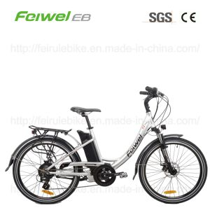 "26"" Step-Through Electric Bicycle with USB Port (TDF02Z) pictures & photos"