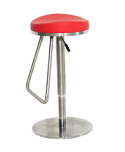 Stainless Steel Gas Lift Backless Bar Stool pictures & photos