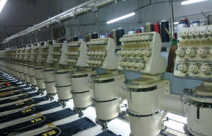 Multi Heads Flat Embroidery Machine with High Efficiency pictures & photos