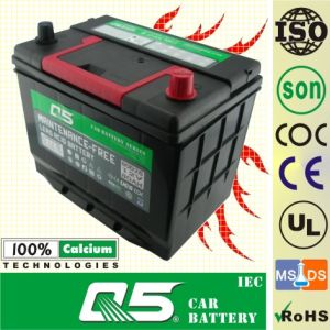 JIS-55D26 12V60AH Mf Electric Vehicle Battery Car Starting Battery pictures & photos