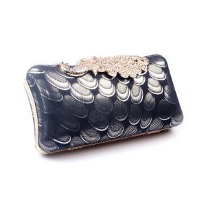 Fashionable Evening Bag Peacock Diamond Dazzling Deisgner Clutch Bag (XW0940) pictures & photos