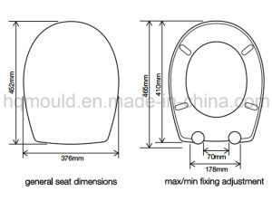 Plastic Bathroom Toilet Seat Injection Moulding pictures & photos
