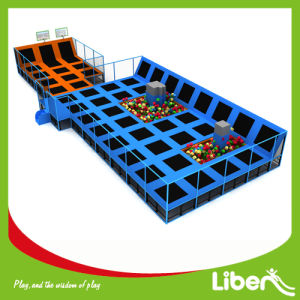 Customized Kid′s Favorite Indoor Big Trampoline with Dodge Ball pictures & photos