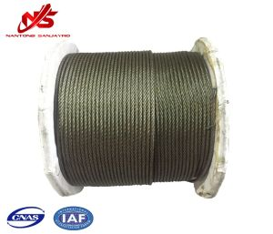 Black Steel Wire Rope 6X19s+FC for Winch pictures & photos