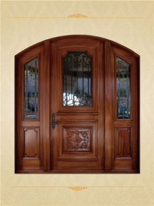 Classic Style Cherry Wood Interior Doors with Glass