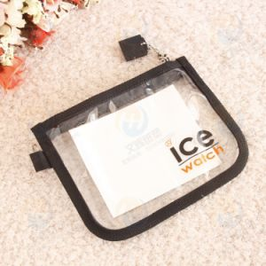 OEM Simple Design Zipper PVC Plastic Card Pouch for Credit Card pictures & photos