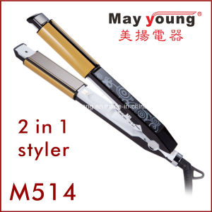 Serve High Quality Hair Straightener &Curler 2 in 1 pictures & photos