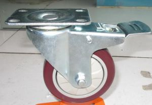 3 Inch Medium Duty PVC Caster with Brake pictures & photos