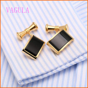 VAGULA Gold Plated Agate Shirt Cuff Men′s Cufflink pictures & photos