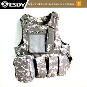 Tan Color Tactical Molle Vest with Hydration Water Reservoir pictures & photos