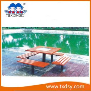 High Quality Outdoor Park Wooden Table and Chair pictures & photos