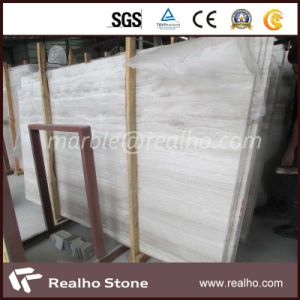 Cheapest White Wooden Vein Marble Slab for Indoor Use pictures & photos