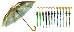 Butterfly Print 3 Fold Open&Close Umbrellas (YS-3FD22083563R) pictures & photos