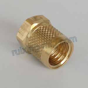 CNC Turning Machining Brass Coupling pictures & photos