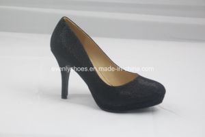 Qualitied Fashion Dress High Heel Women Shoes with Fabric Upper pictures & photos