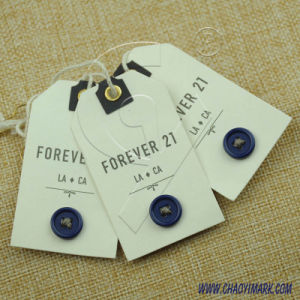 Simple Design White Background Paper Printed Hang Tag 234