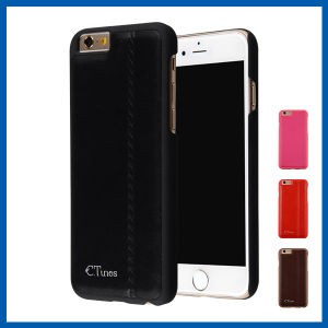 Leather Surface PC Back Hard Cover for iPhone 6 Plus pictures & photos
