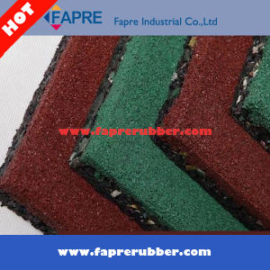 Recycled Rubber Tiles/Outdoor Playground Rubber Flooring Tiles/Crumb Rubber Tiles. pictures & photos