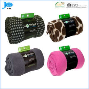 100% Polyester Super Soft Printed Flannel Fleece Blanket pictures & photos