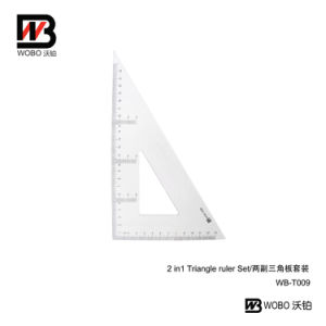 2 in 1 China Triangular Ruler Set for Office Stationery pictures & photos