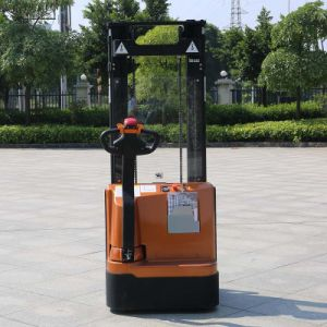 1.4t Half Electric Pallet Stacker Price Double Mast Reach Stacker (CDD14) pictures & photos