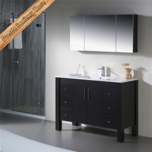 Fed-1158 Free Standing Espresso White Quartz Rectangle Sink Solid Wood Bathroom Vanities pictures & photos