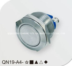 Flat Screw Pin Momentary Push Button Switch pictures & photos