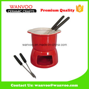 Color Glazed Ceramic Fondue Set for Home Dinnerware pictures & photos