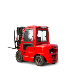 3.5ton Diesel Forklift Truck Red Color pictures & photos