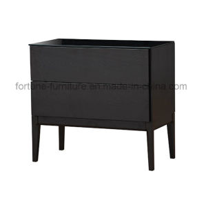 Wooden 2 Drawer Chest with Termpered Glass and Solid Wood Plinth (N combination 8)