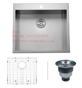 25X20 Inch Stainless Steel Top Mount Single Bowl Handmade Kitchen Sink pictures & photos