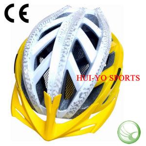 Big Size Bike Helmet, Yellow Bicycle Helmet, Blinking Road Helmet