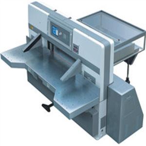 Program Control Double Worm Wheel Double Guide Paper Cutting Machine (SQZK1150D) pictures & photos